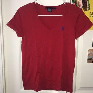 ralph lauren red tshirt